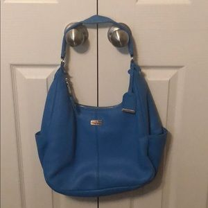 Cole Haan pebble leather hobo. Bright blue